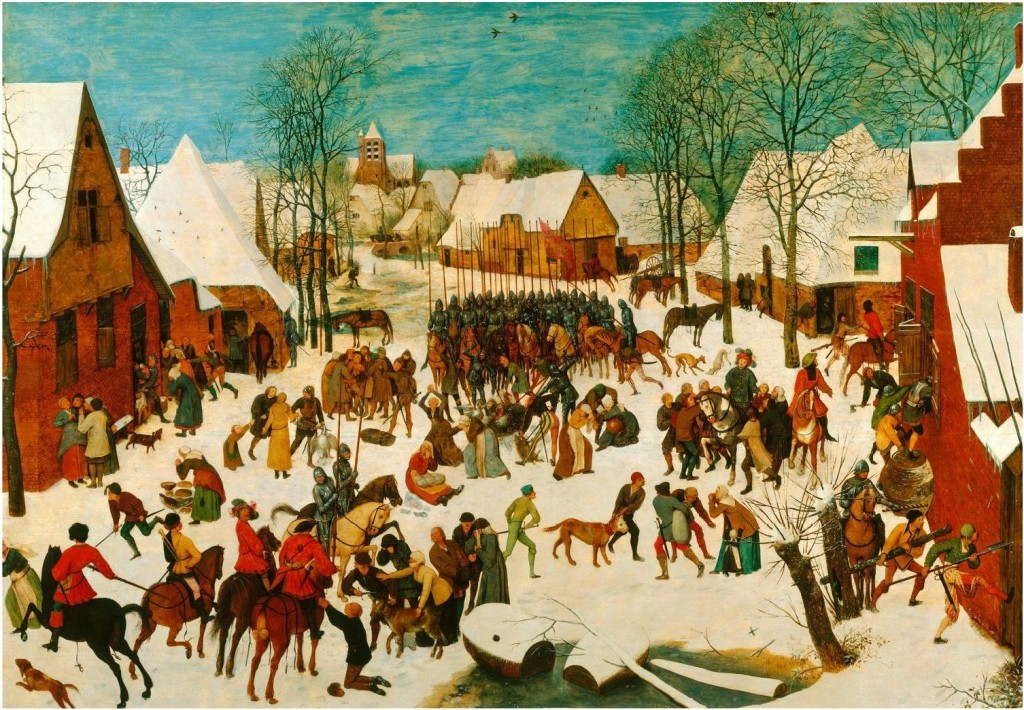 Le Massacre des innocents, Pieter Bruegel l'Ancien, 1565. Château de Windsor, Londres.